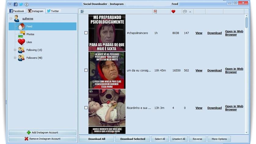 Social Downloader - Imagem 3 do software