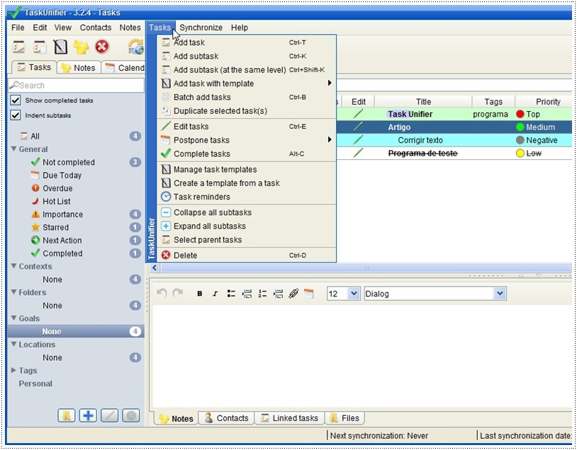 TaskUnifier Pro - Imagem 2 do software
