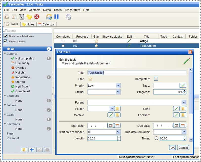 TaskUnifier Pro - Imagem 3 do software