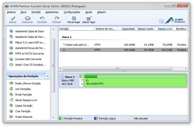 AOMEI Partition Assistant Server