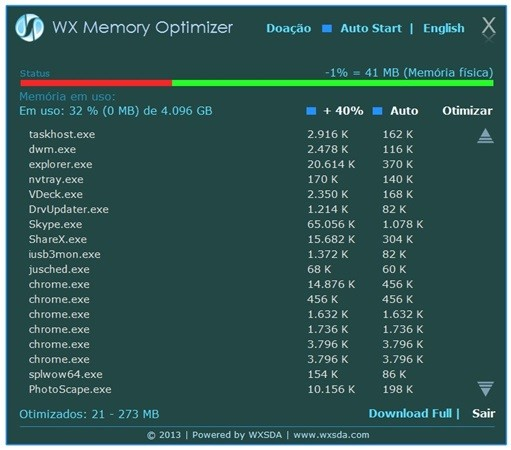 WX Memory Optimizer.