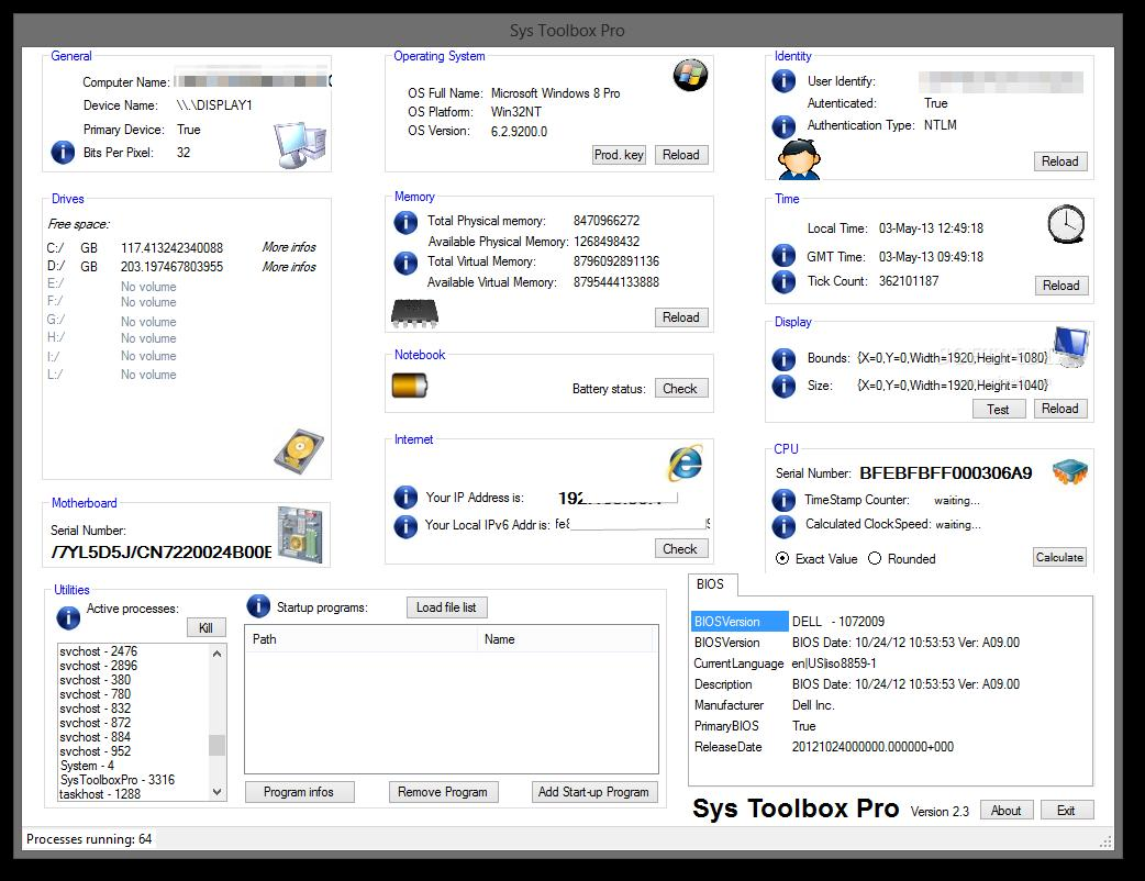 Sys Toolbox Pro - Imagem 1 do software