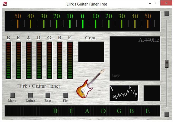 Для настройки гитары в интернете