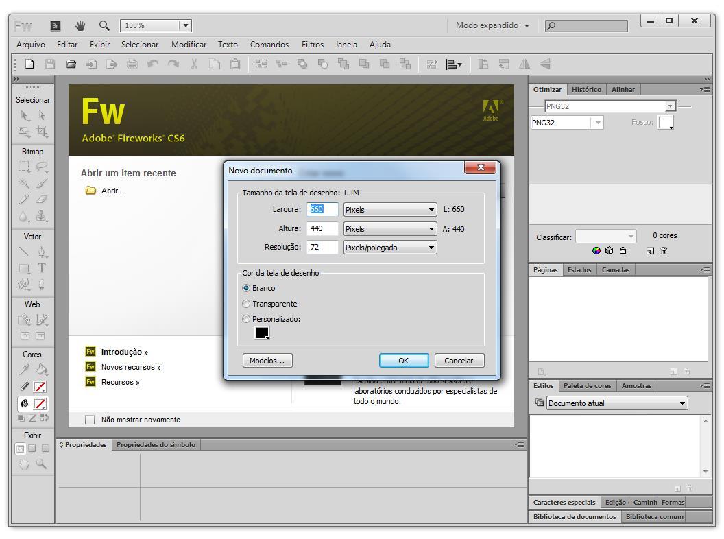 Adobe Fireworks - Imagem 1 do software
