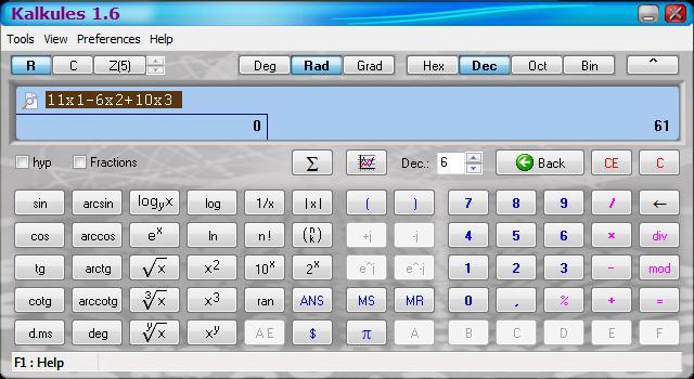 Kalkules - Imagem 1 do software