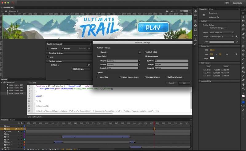 Adobe Flash Professional - Imagem 9 do software