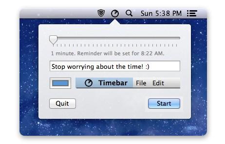Timebar - Imagem 1 do software