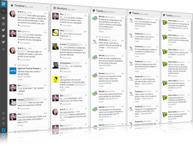 TweetDeck Web - Imagem 1 do software