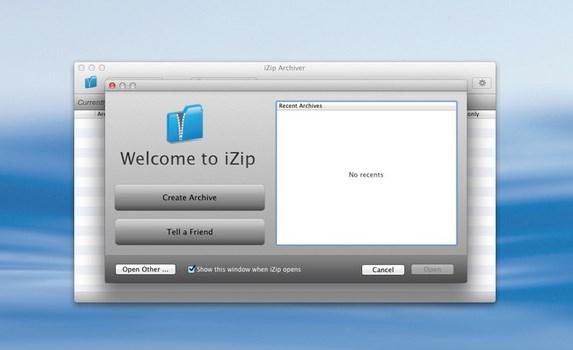 iZip Archiver - Imagem 1 do software