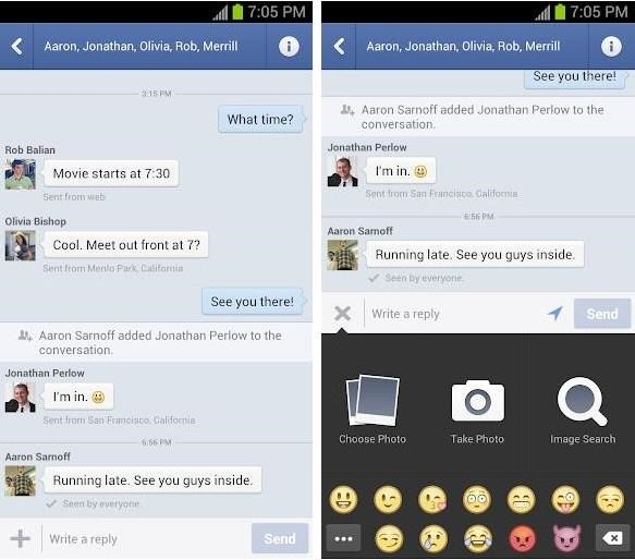 Usando o Facebook Messenger