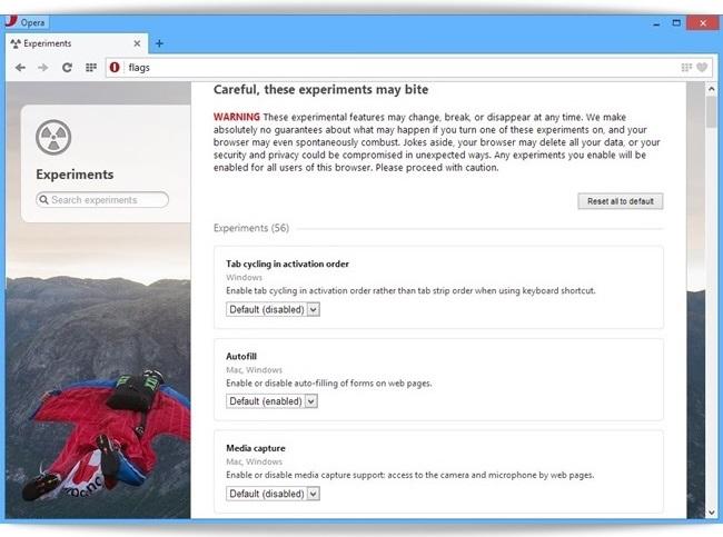 Opera Next - Imagem 6 do software