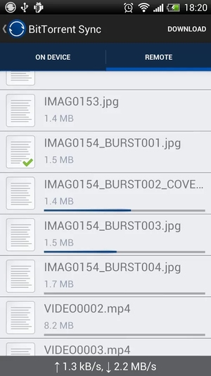 BitTorrent Sync - Imagem 1 do software