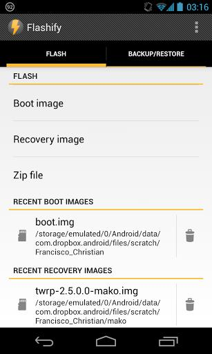Flashify (for root users) - Imagem 1 do software