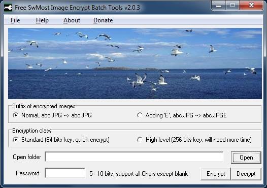 Free SwMost Image Encrypt Batch Tools - Imagem 1 do software