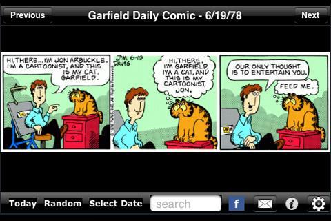 Garfield Daily - Imagem 1 do software
