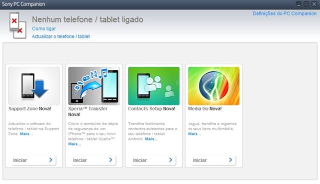 Xperia Companion - Imagem 1 do software