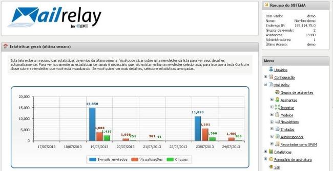 Mailrelay - Imagem 1 do software