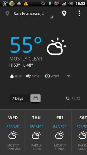 EZ Weather HD Beautiful Widget - Imagem 1 do software