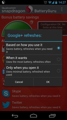 Snapdragon BatteryGuru - Imagem 2 do software