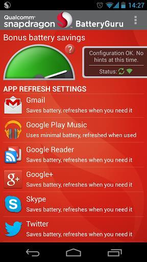Snapdragon BatteryGuru - Imagem 1 do software