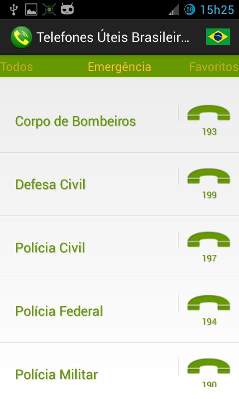 Telefones Úteis Brasileiros - Imagem 1 do software