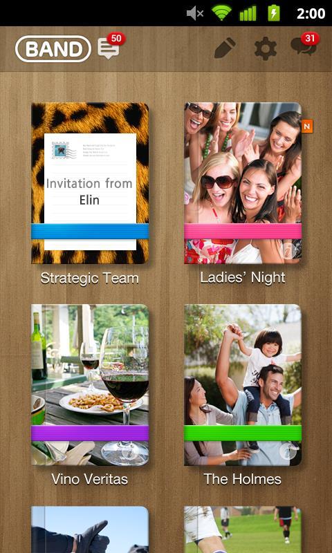 LINE BAND-family, friends - Imagem 1 do software