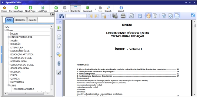 Apostila ENEM - Imagem 1 do software