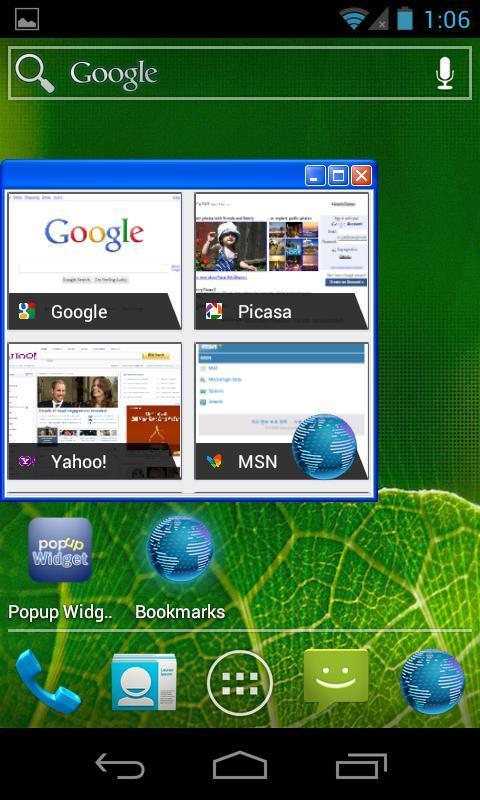 Popup Widget - Imagem 2 do software