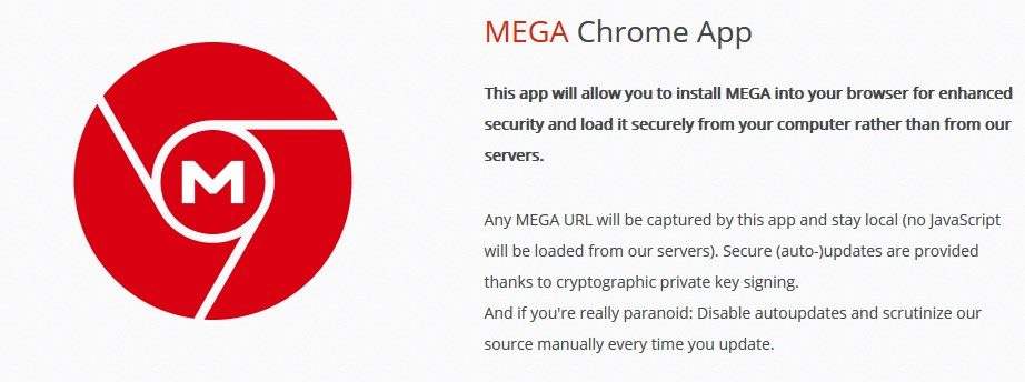 MEGA Chrome App