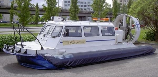 Um modelo de hovercraft