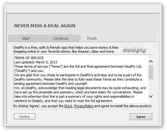 Como remover o DealPly