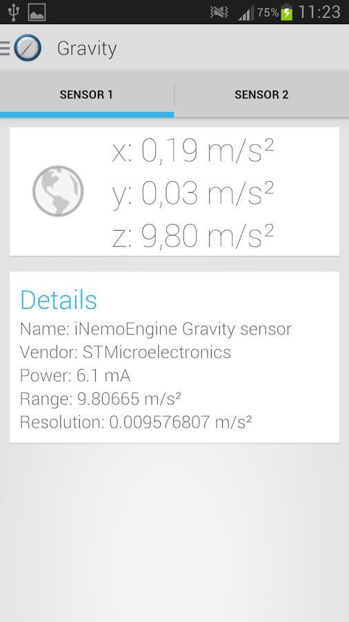 Sensor Sense - Imagem 1 do software