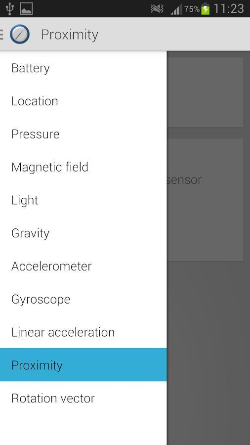 Sensor Sense - Imagem 2 do software