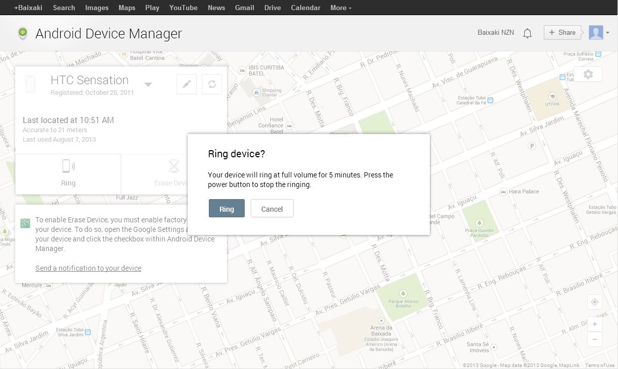 Android Device Manager.