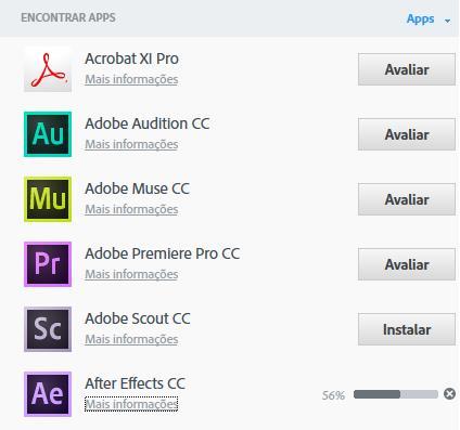 Vários apps
