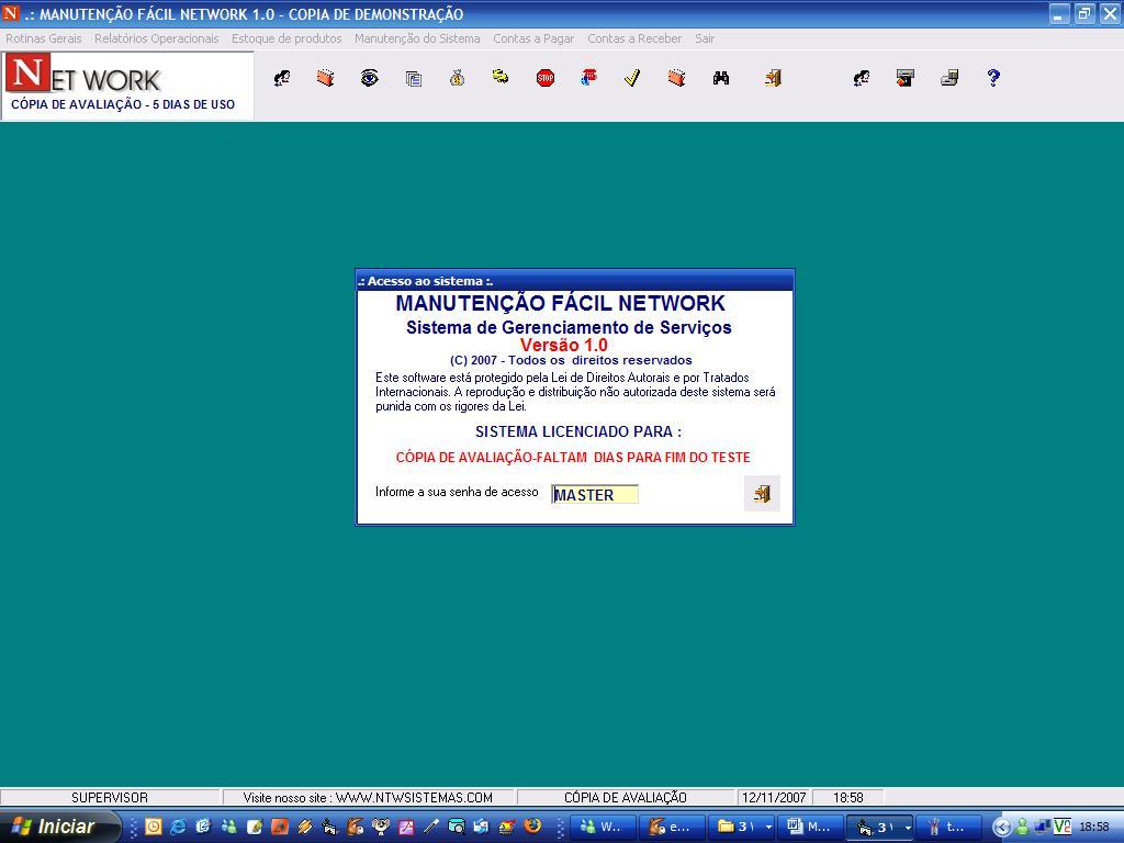 Manutenção Fácil Network - Imagem 1 do software