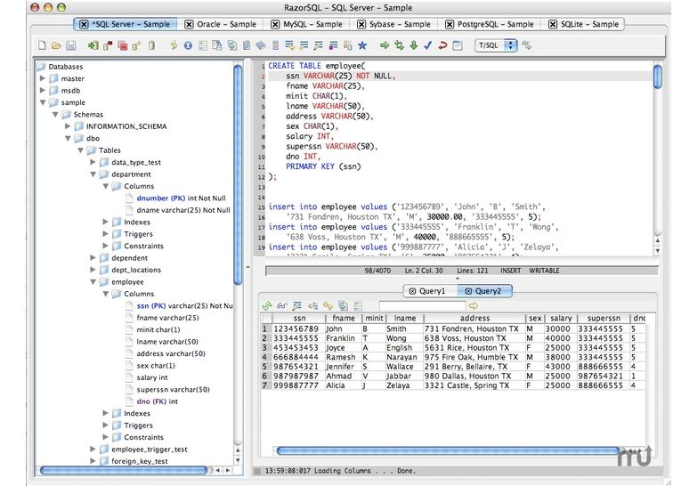 RazorSQL - Imagem 1 do software