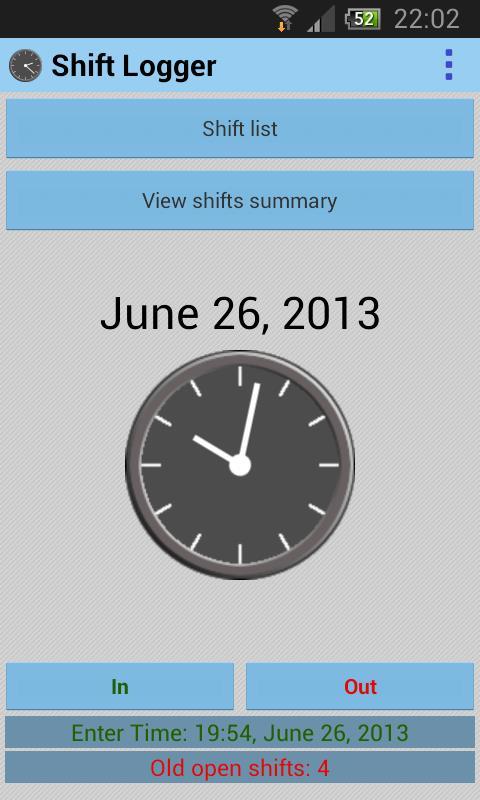 Shift Logger - Imagem 1 do software