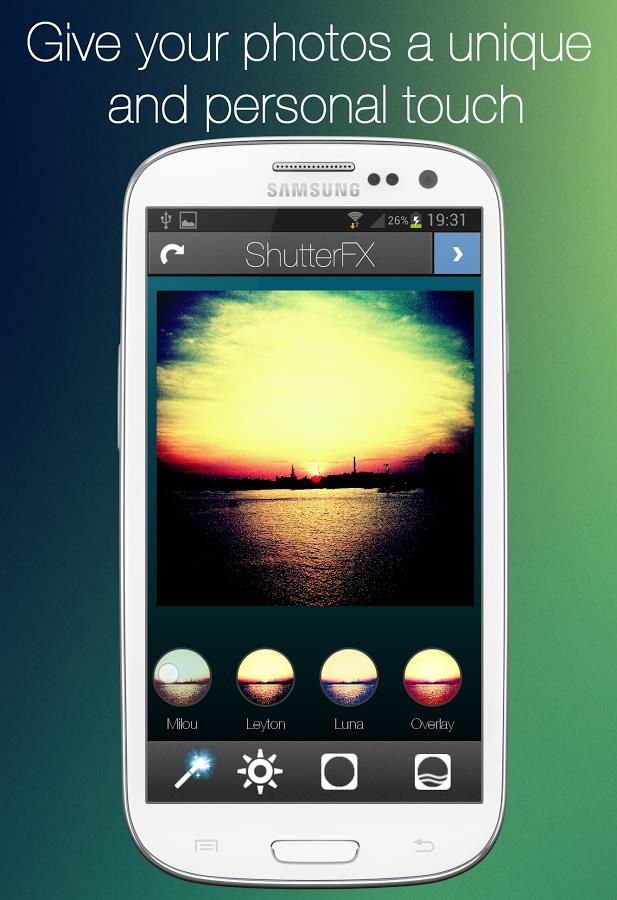 ShutterFX - Imagem 2 do software