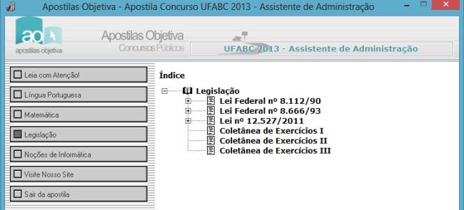 Apostila do Concurso UFABC 2013 - Assistente Administrativo - Imagem 1 do software