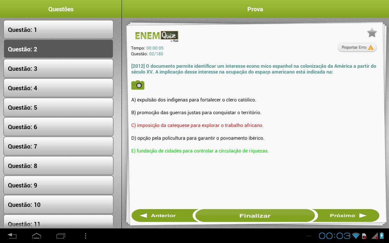 ENEMQuiz Provas do ENEM - Imagem 1 do software