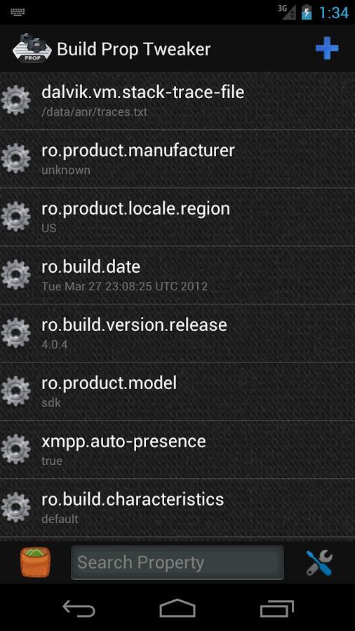 Build Prop Tweaker Pro - Imagem 1 do software