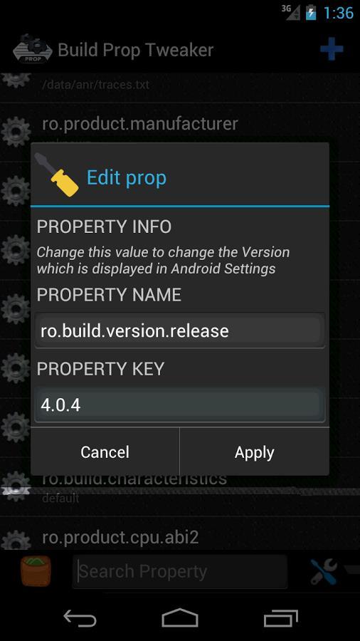 Build Prop Tweaker Pro - Imagem 2 do software