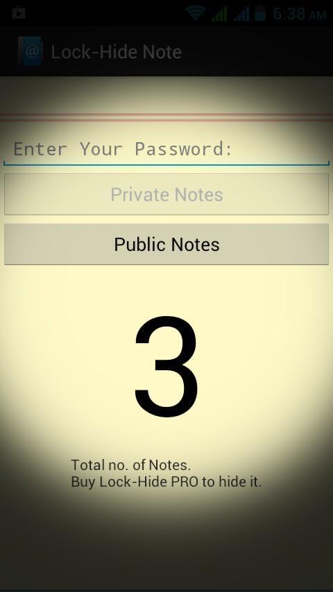 Lock-Hide Note - Imagem 2 do software