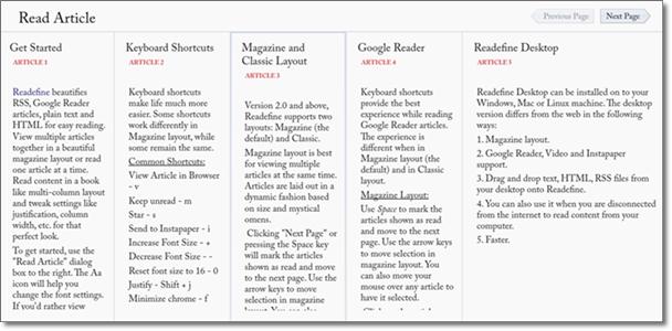 Coluna de artigos