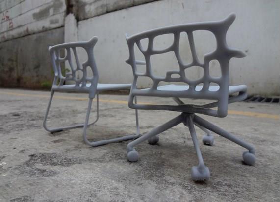 Cadeira criada por impressão 3D