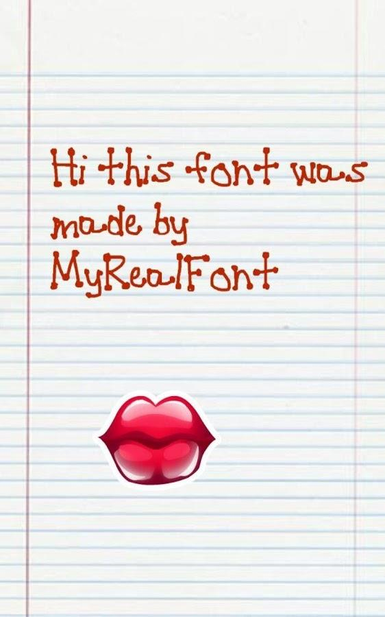 MyRealFont Pro (SAMSUNG NOTE) - Imagem 2 do software
