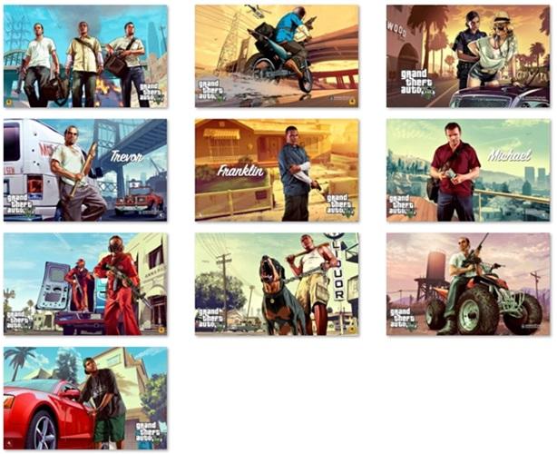 Grand Theft Auto V Windows 7 Theme - Imagem 2 do software