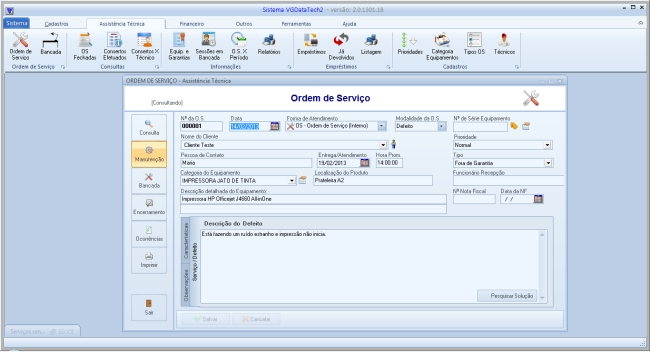 Sistema VGDataTech - Lite - Imagem 1 do software