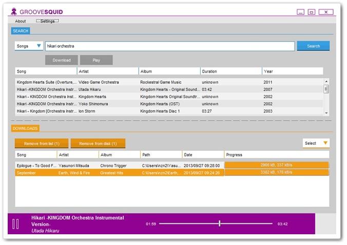 Groovesquid - Imagem 2 do software